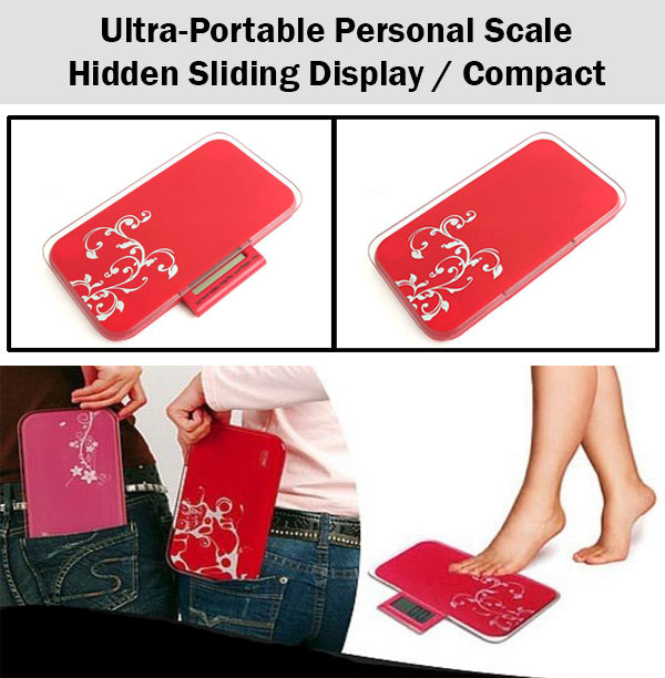 Ultra Portable Compact Small Personal Scale Weighing Pocket Sized Sleek Healthy