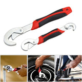 2 PCS Set Universal Wrench Tool Spanner Adjustable All Types of Bolt and Nut