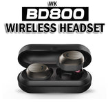 WK BD800 Wireless Headset★Storage Box for Storage and Charging★Long Battery Life