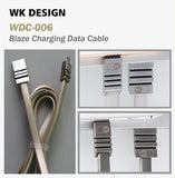 WK Design WDC-006 Blaze Fast Charge Data Transfer Cable IOS Apple Micro Samsung