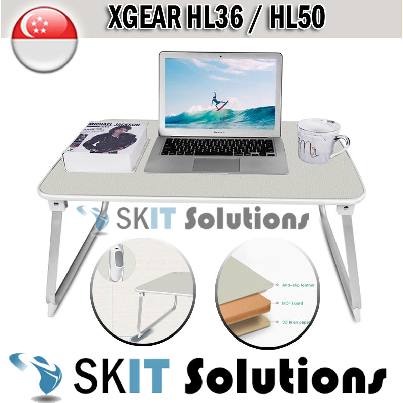 Xgear HL36 HL50 Foldable Portable Laptop Desk Table Adjustable Tray Bed Monitor Stand Holder