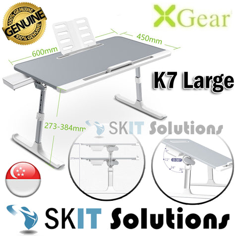 Xgear K7 Large Laptop Table with Adjustable Height and Angle★with Book Stand and Drawer★