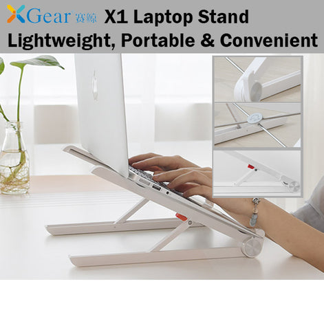 Xgear X1 Laptop Stand Holder Lightweight Portable Convenient Easy Carry and Use