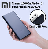 Xiaomi Gen2 10000mAh Power Bank Portable Charger USB Cable Micro Lightning