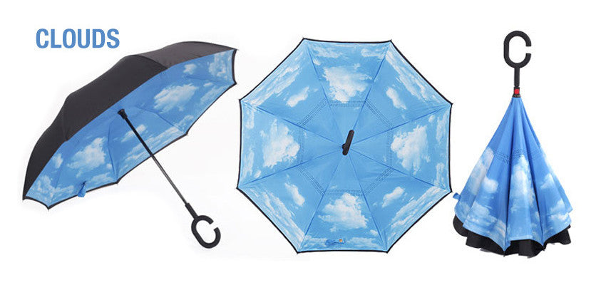 Inverted / Reversed Umbrella with C Handle or J Hook