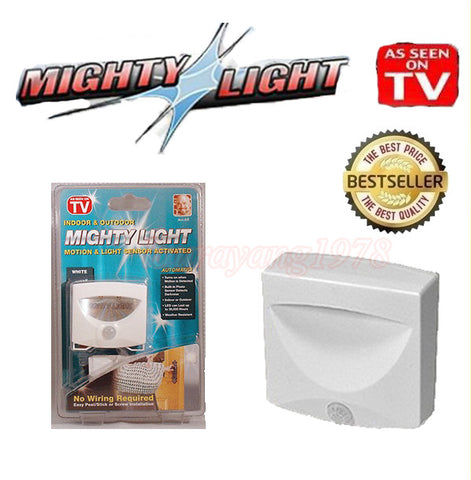 Mighty Light LED Sensor Motion and Light Sensored