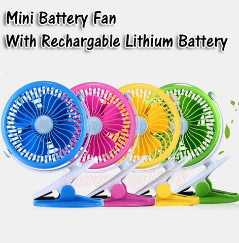 Rechargeable Portable Mini Battery Fan with Clip