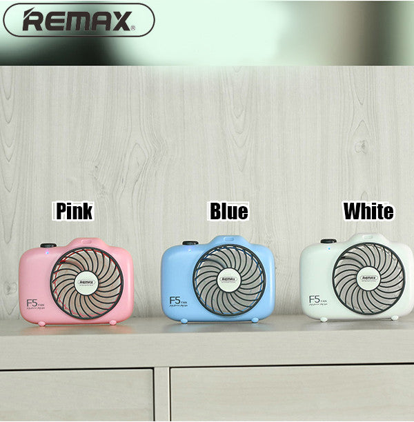 Remax F5 Camera Shape Mini Portable Handheld Fan
