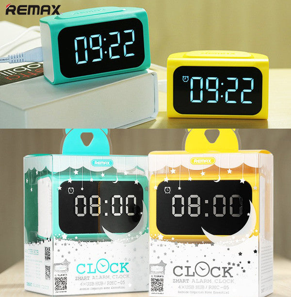 Remax RMC-05 Digital Alarm Clock with 4 USB Hub