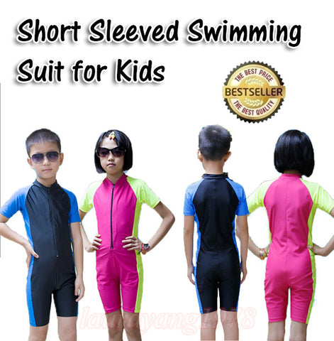 1012 Kids Short Sleeve Snorkel Diving Swimming Suit