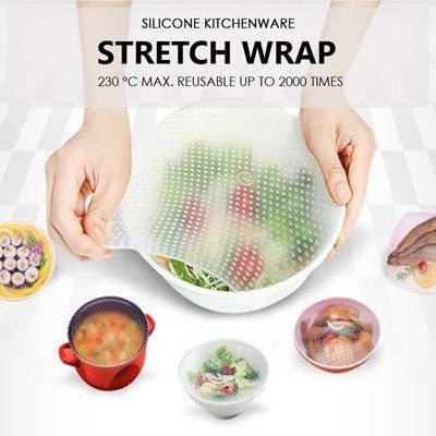 Reusable Silicone Stretch Wrap - Set of 3 pcs