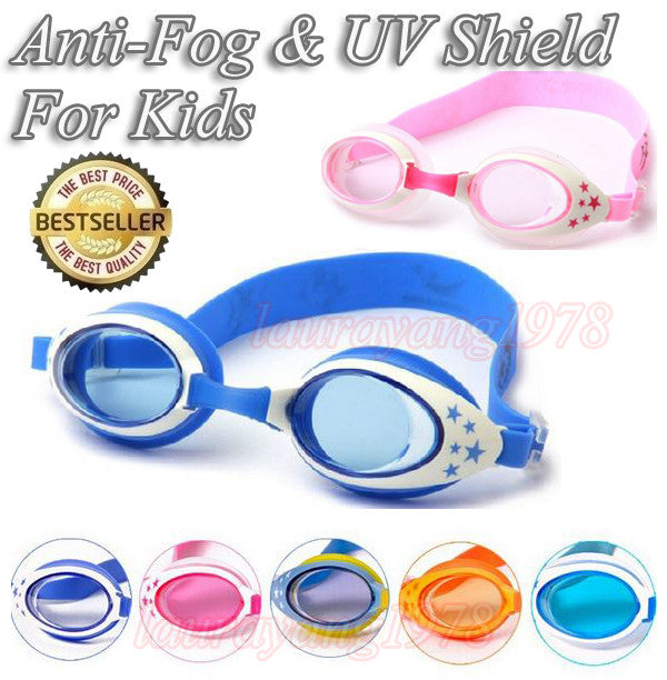 Kids Underwater Swimming Goggles Star Design for Normal Vision