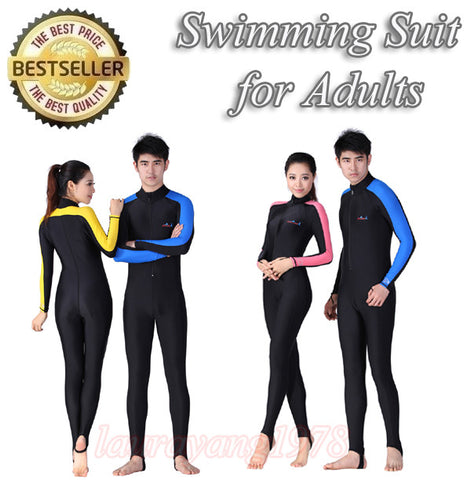 Adults Snorkel Diving Swimming Suit in Long Sleeve