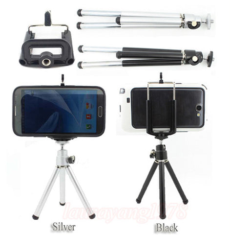 Mini Portable Tripod Stand+Phone Holder Bracket