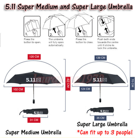 511 Tactical Automatic Retractable Umbrella