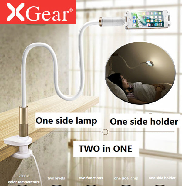 XGear Sunflower 3 III Smart Stand Holder Mount Cradle with LED Light for Mobile Phone 4-6 Inch