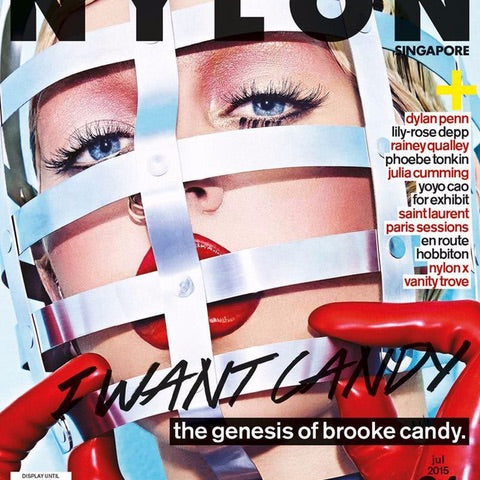 Brooke Candy: Face cage, NYLON cover