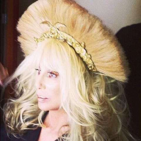 Cher: Blond plume headpiece, Dressed 2 Kill tour and promo