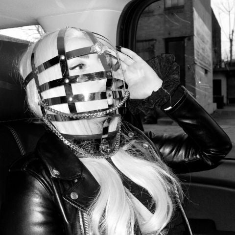 Lady Gaga: Face cage worn for The Rolling Stones concert