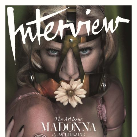 Madonna: Daisy face cage, INTERVIEW MAGAZINE COVER
