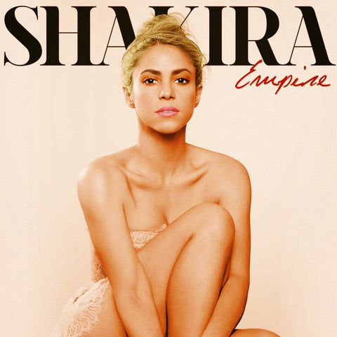 Shakira: Trio crowns and leaf crown, SHAKIRA Empire album cover and inside book images