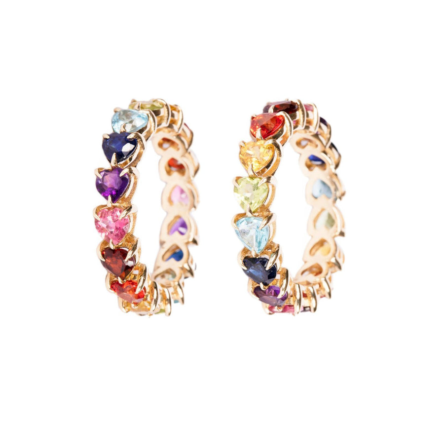 14k gold rainbow ring rings Mordekai