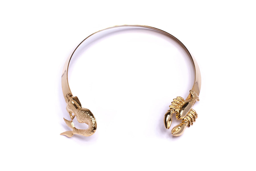 lobster / mermaid choker Neckpieces Mordekai