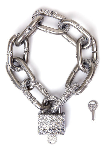 Oversized lock necklace Mordekai