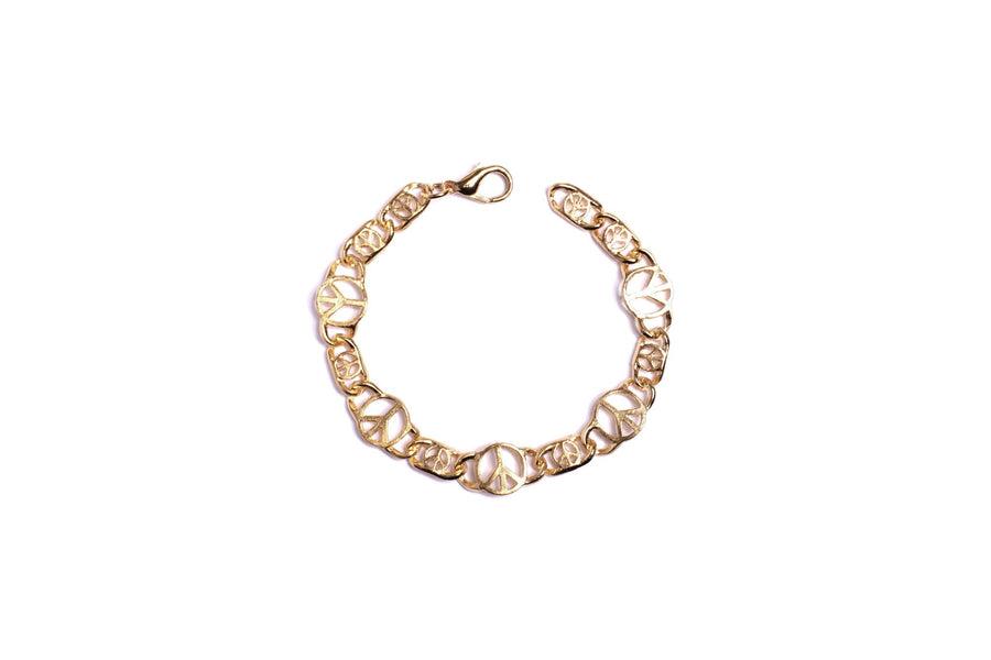 PEACE SIGN CHAIN BRACELET bracelet Mordekai