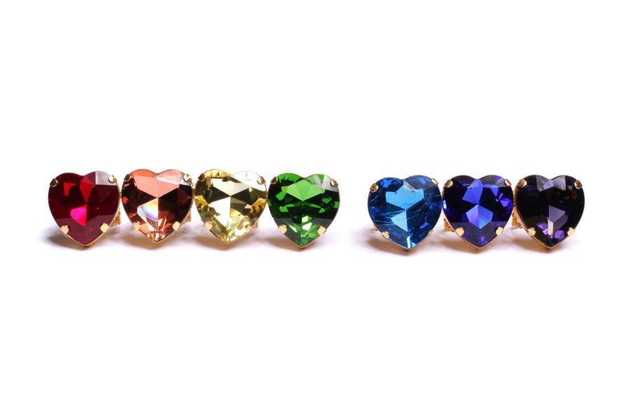 RAINBOW HEART KNUCKLE RINGS SET rings Mordekai