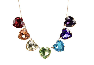 RAINBOW HEART Necklace Neckpieces Mordekai
