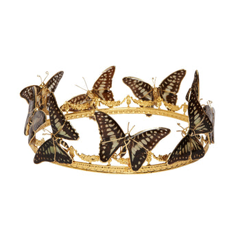 Real Butterlies and 24K Gold Crown crown Mordekai