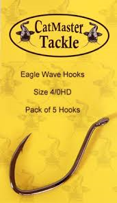 Catmaster Eagle Wave Barbed Hooks