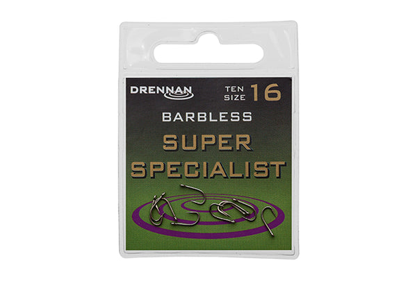 Drennan Super Specialist Hook Barbless