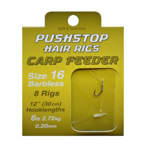Drennan Pushstop Hair Rigs Carp Feeder Barbless