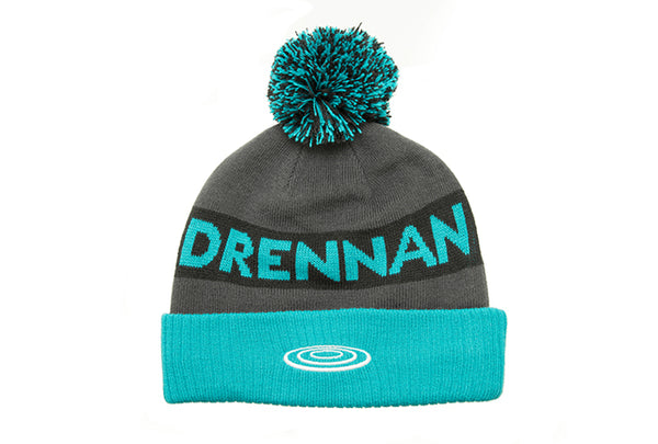 Drennan Aqua/Black Bobble Hat