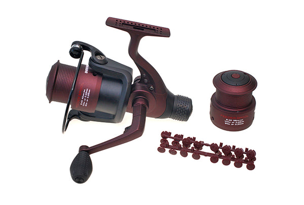 Drennan Red Range Feeder Reel 6-40 with spare spool