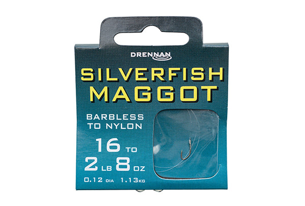 Drennan Silverfish Maggot Hooks To Nylon Barbless