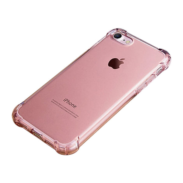 Anti Drop Soft Shell Silicone Case for iPhone 7 (Rose Gold)