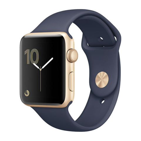 Apple Watch 2 38mm Gold Aluminum Case with Sport Band MQ132LL/A (Midnight Blue)