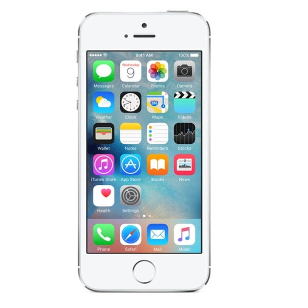 Apple iPhone 5S 32GB 4G LTE Silver Unlocked (Refurbished - Grade A)