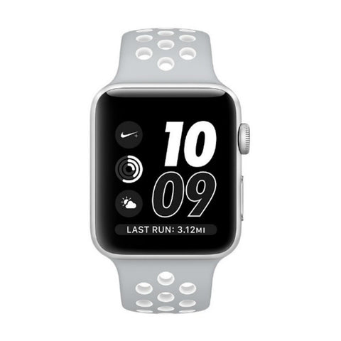Apple Watch 2 42mm Nike Sport Band MNNQ2 (Flat Silver/White)