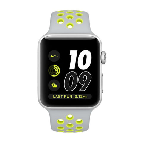 Apple Watch 2 38mm Nike Sport Band MNYP2 (Flat Silver/Volt)