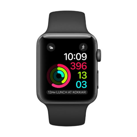 Apple Watch 2 38mm Space Gray Aluminum Case Sport Band MP0D2 (Black)