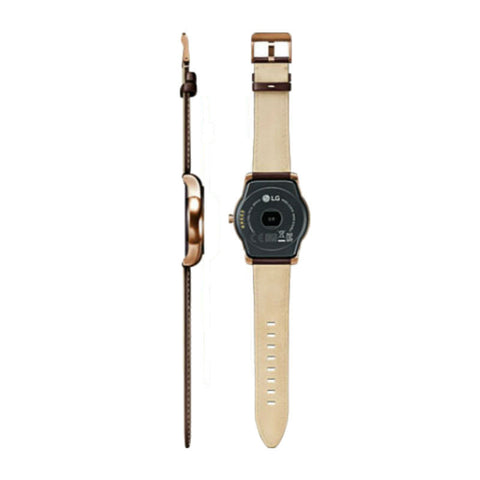 LG Watch Urbane W150 Brown Leather Strap (Gold)