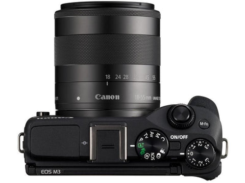 Canon EOS M3 with 18-55mm and 55-200mm Black Digital SLR Camera