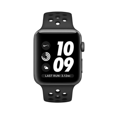Apple Watch Nike+ 38mm Space Grey Aluminum Case with Sport Band MQ162LL/A (Black)