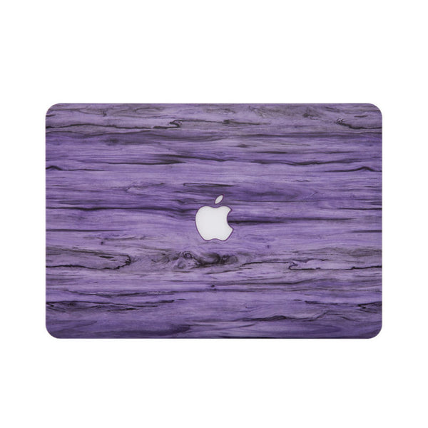 Wood Pattern Protective Shell for 13 inch MacBook Air (Purple)