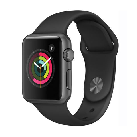 Apple Watch 1 38mm Aluminum Case Sport Band MP022LL/A (Black)