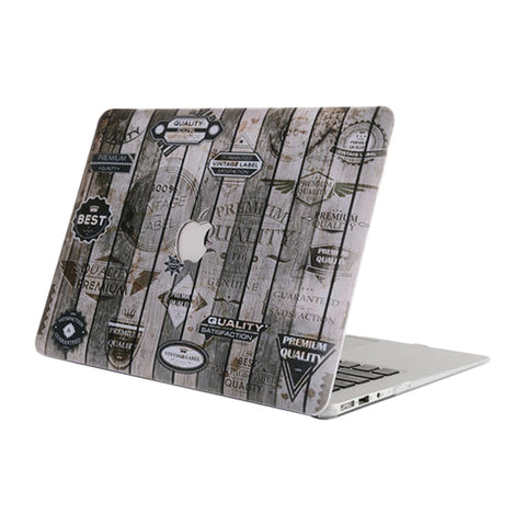Retro Wood Grain Pattern Protective Shell for Macbook Air 13.3 inch